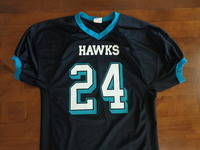 jersey with teal cuffs